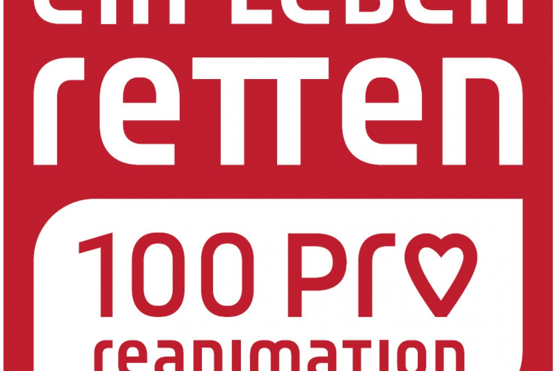 Ein Leben retten. 100 Pro Reanimation